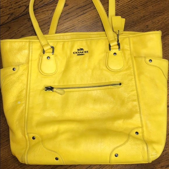 Coach Handbags - Coach Yellow Handbag